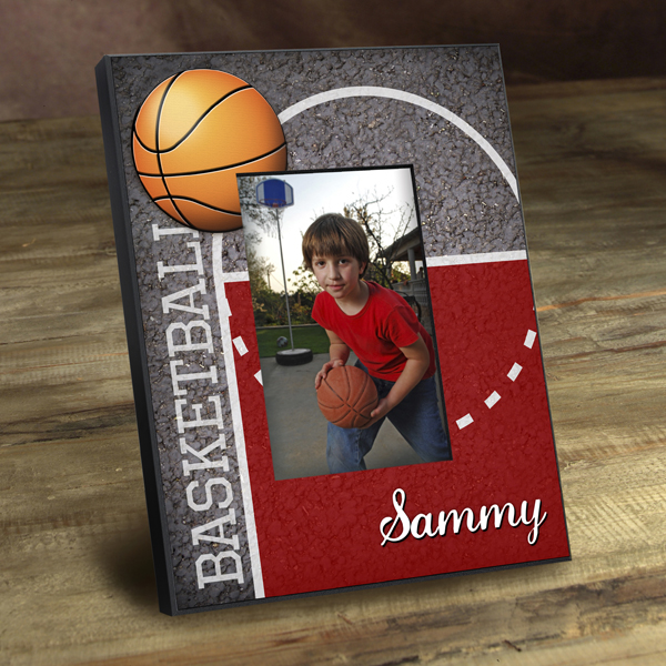 Personalized Basketball Court Picture Frame GC762hoops