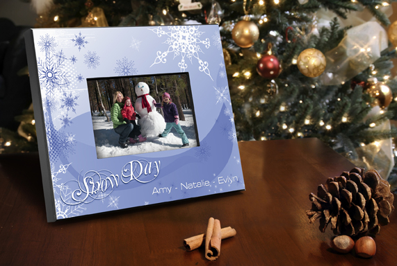Personalized Snow Day Picture Frame