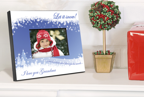 Personalized Let It Snow Picture Frame