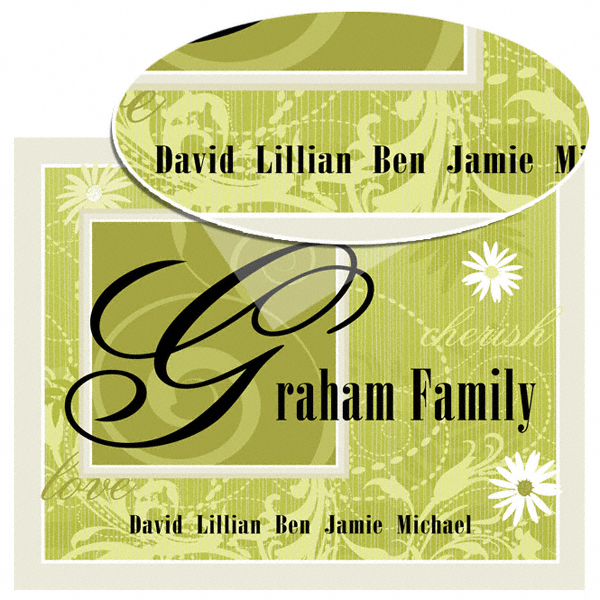 Colorful Family Name Wall Print Sign GC774