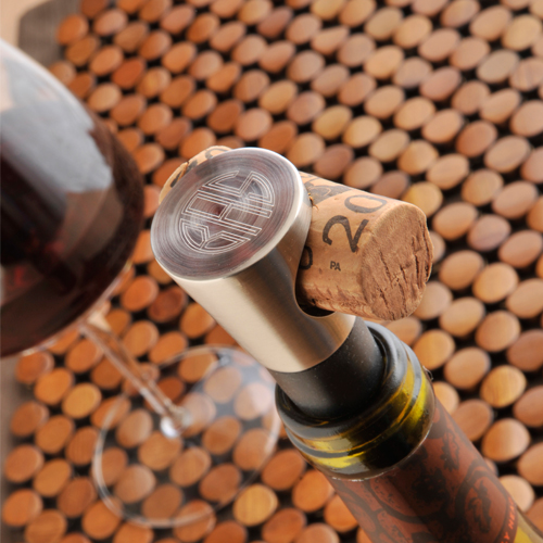 Engraved Silver Brass Monogram Wine Stopper GC777