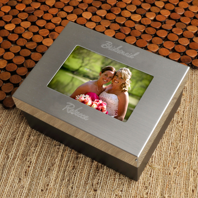 Engraved Keepsake Photo Jewelry Box GC780