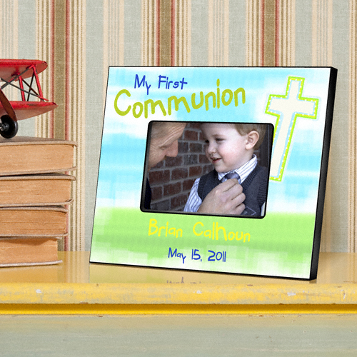 First Communion Bright Blessings Custom Picture Frame