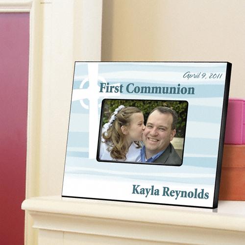 First Communion Celtic Cross Blessings Custom Picture Frame