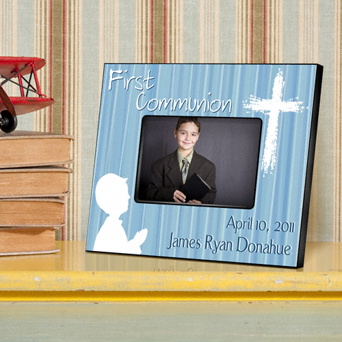 First Communion Hear My Prayer Blue Custom Picture Frame GC781-Hear-My-Prayer-Blue