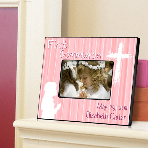 First Communion Hear My Prayer Pink Custom Picture Frame