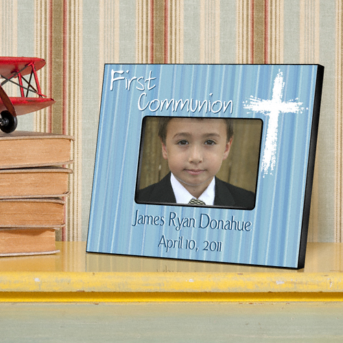 First Communion Light Of God Blue Custom Picture Frame GC781-Light-of-God-Blue