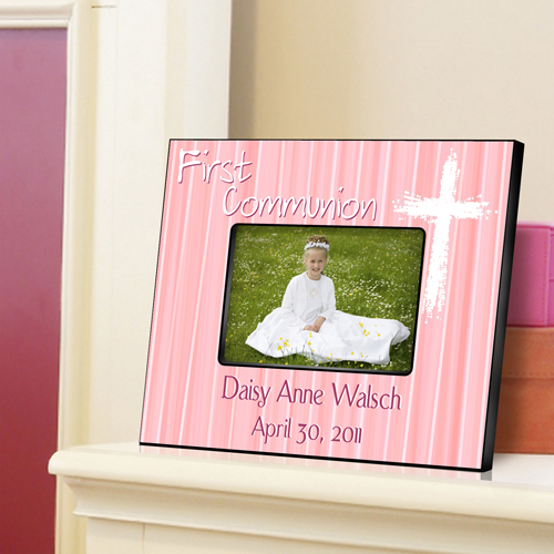First Communion Light Of God Pink Custom Picture Frame GC781-Light-of-God-Pink
