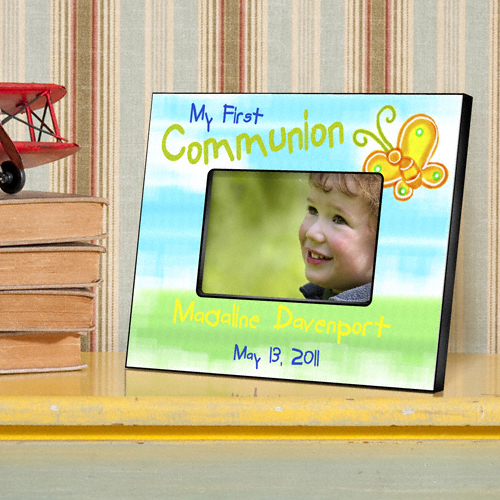 First Communion Sunshine and Butterflies Custom Picture Frame