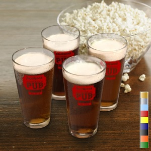 Personalized Set Of 4 Classic 16oz Pub Brew Glasses GC783