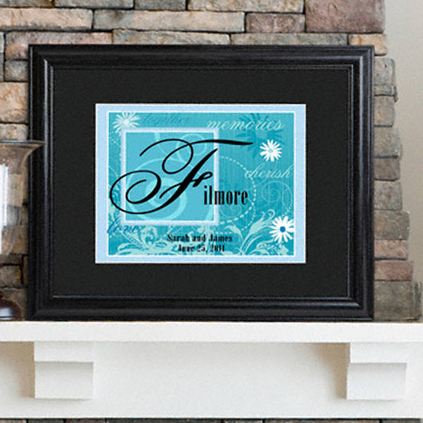 Personalized Wedding Couple Wall Print Sign GC787