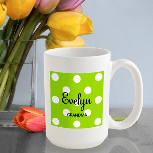 Classy Polka Dots Coffee Mug