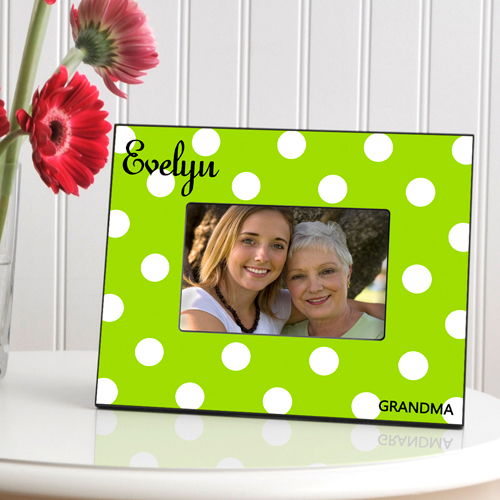 Personalized Polka Dots Picture Frame GC810