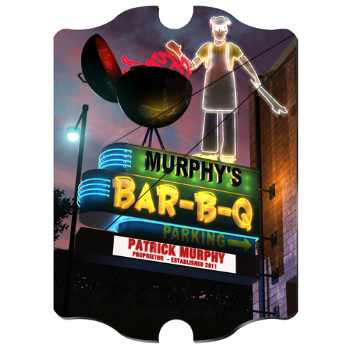 Marquee Vintage Custom Home Pub Sign
