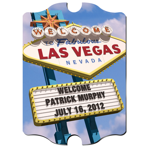 Custom Vintage Vegas Wood Pub Sign GC816