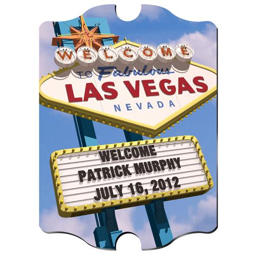 Custom Vintage Vegas Wood Pub Sign