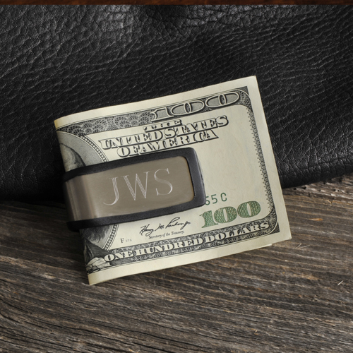 Sporty Fit Engraved Silver Money Clip GC830