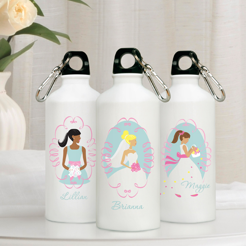 Personalized Wedding Party Aluminum Water Bottles GC847