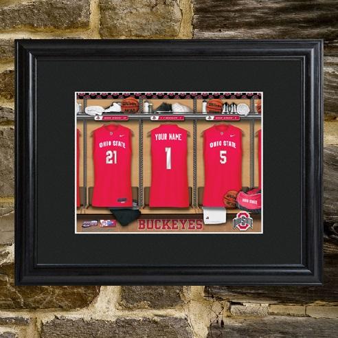 Custom College Basketball Framed Locker Room Print