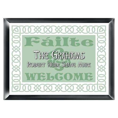 Irish Linen Personalized Family Sign