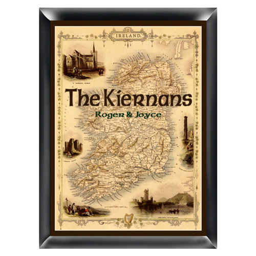 Personalized Vintage Irish Pride Map Family Sign GC854irishmap