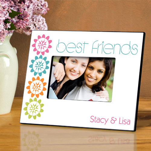 Personalized Bff Playful Peonies Picture Frame GC858bff-peonies