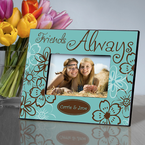 Personalized Trendy Turquoise Everlasting Friends Picture Frame GC858everlasting-turquoise