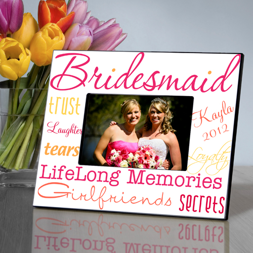 personalized bridesmaid medley color picture frame