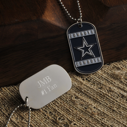 NFL Custom Engraved Dog Tag With True Colors