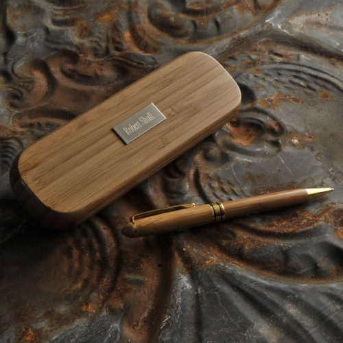 Engraved Bamboo Pen Set GC870