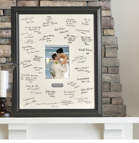 Personalized Wedding Wishes Signature Frame With Engraved Plate GC874