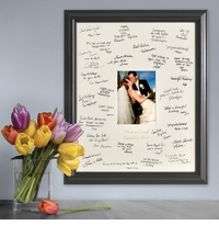 Personalized Laser Engraved Wedding Wishes Signature Frame GC875