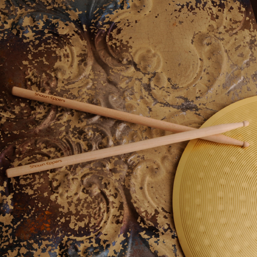 Authentic Wood Engraved Drumsticks GC880