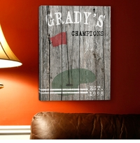 Custom Vintage Sports Canvas Print