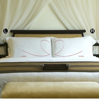 Custom Printed Couples Heart Pillow Case Set GC891HEART