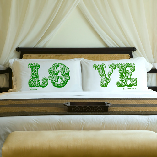 Custom Printed Couples Love Pillow Case Set GC891LOVE