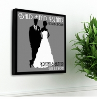 Personalized Wedding Day Couples Studio Canvas Print GC897