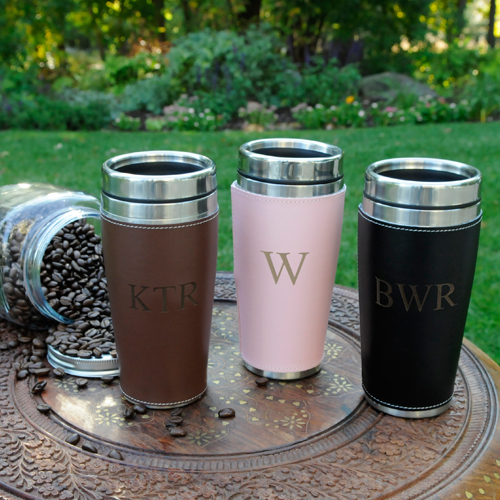Custom Executive Travel Tumbler With Washable Cuff
