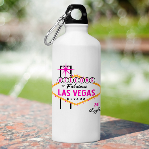 Custom Las Vegas Wedding Party Water Bottles