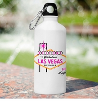 Custom Las Vegas Wedding Party Water Bottles GC912