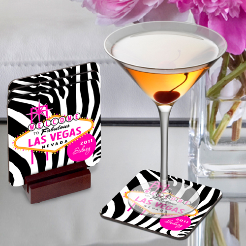 Decorative Las Vegas Coaster Set