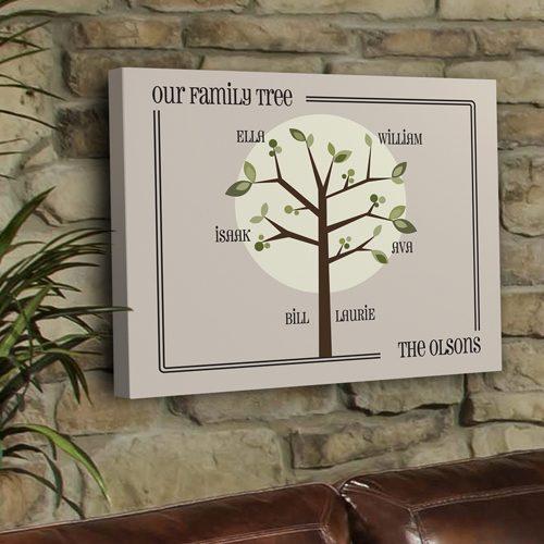 Personalized Growing Family Tree Canvas GC920modern