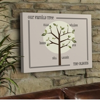 Personalized Modern Family Tree Canvas Print GC920modern