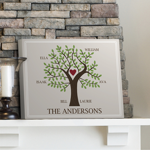 Personalized Family Heart Tree Canvas GC920traditional