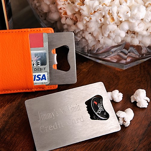 Engraved Credit Card Sized Stainless Steel Bottle Opener GC923