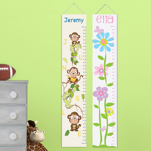 Kids Custom Height Chart Canvas GC925