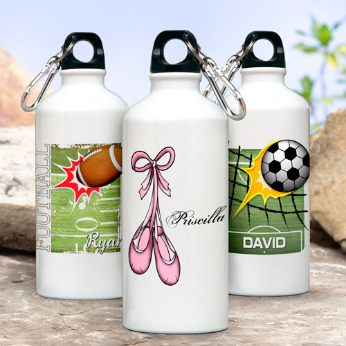 Personalized Kids Sports Aluminum Water Bottles GC927