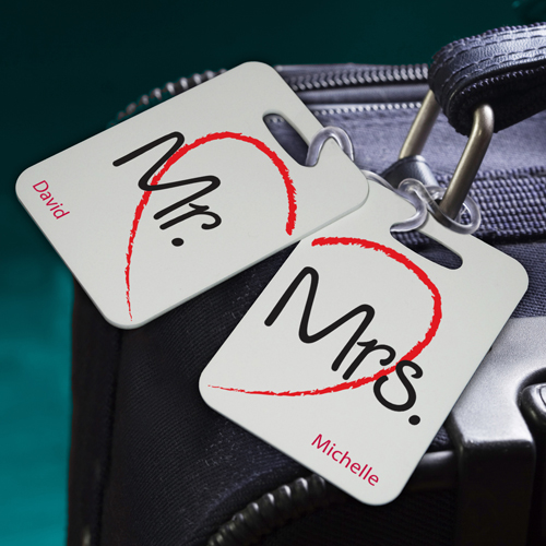 Traveling Couples Custom Sojourn Luggage Tags Set Of 2 GC931