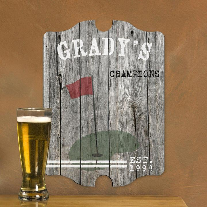 Custom Vintage Wood Sports Pub Sign GC935