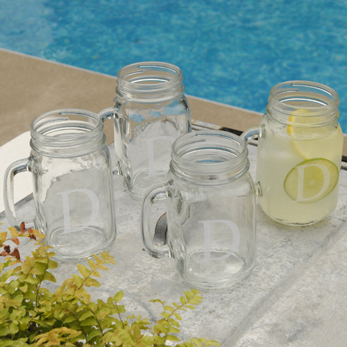 Personalized Classic 16oz Jar Glass Set GC942
